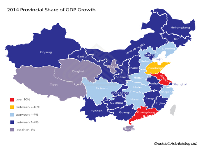 2014 Provincial share of GDP growth